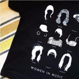 Tops - Women In Music Tee Size Medium